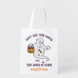 Personalisierter lustiger Halloweentrick-oder Wiederverwendbare Einkaufstasche