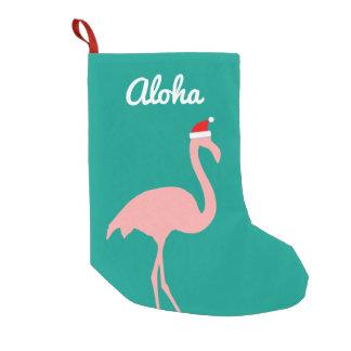 Personalisierter lustiger rosa Sankt-Flamingo Kleiner Weihnachtsstrumpf