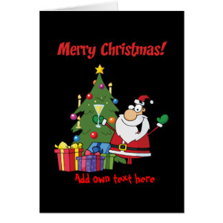 Personalisierter lustiger WeihnachtsCartoon Baum Karte