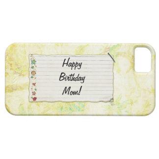 Personalisierter Mammageburtstag Blumen-Aufkleber Etui Fürs iPhone 5