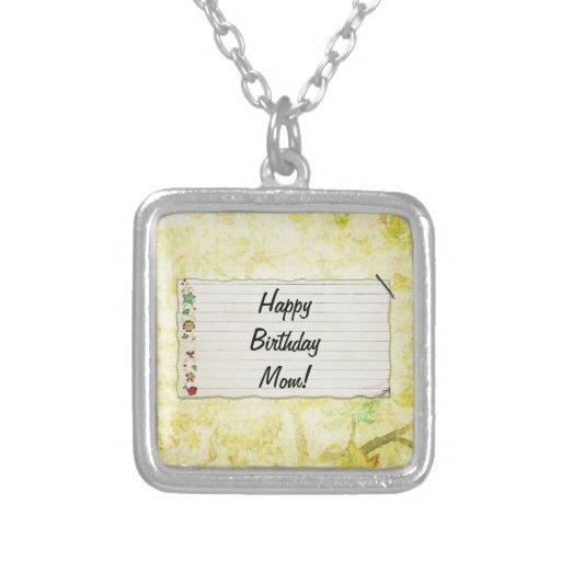 Personalisierter Mammageburtstag Blumen-Aufkleber Halskette