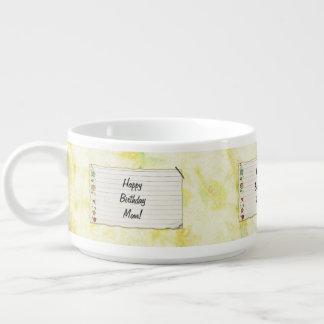 Personalisierter Mammageburtstag Blumen-Aufkleber Kleine Suppentasse