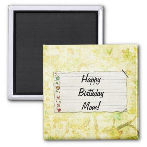 Personalisierter Mammageburtstag Blumen-Aufkleber Kühlschrankmagnete