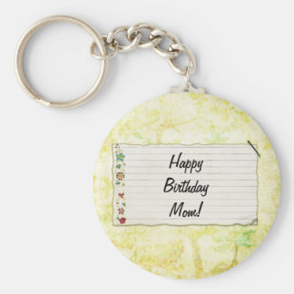 Personalisierter Mammageburtstag Blumen-Aufkleber Schlüsselband