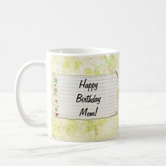 Personalisierter Mammageburtstag Blumen-Aufkleber Teehaferl