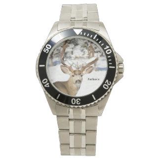 Personalisierter Maultier-Rotwild-Dollar Uhr