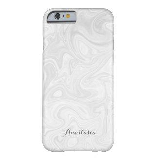 Personalisierter moderner Grau-Weißer flüssiger Barely There iPhone 6 Hülle