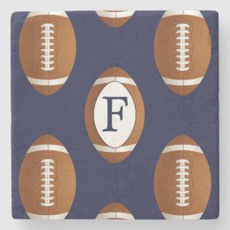 Personalisierter Monogramm-Fußball-Ball-Sport Steinuntersetzer