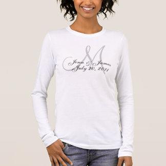 Personalisierter Monogramm-Hochzeits-T - Shirt