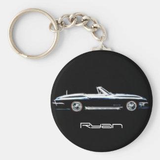 Personalisierter Name Chevrolet Corvette Stingray  Standard Runder Schlüsselanhänger