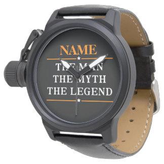 Personalisierter Name der Mann der Mythos die Armbanduhr