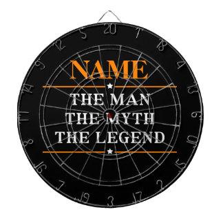 Personalisierter Name der Mann der Mythos die Dartscheibe