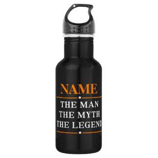 Personalisierter Name der Mann der Mythos die Edelstahlflasche