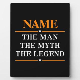 Personalisierter Name der Mann der Mythos die Fotoplatte