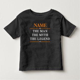 Personalisierter Name der Mann der Mythos die Kleinkind T-shirt