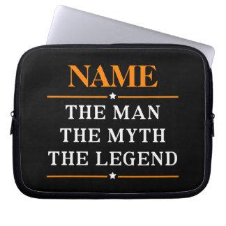 Personalisierter Name der Mann der Mythos die Laptop Sleeve