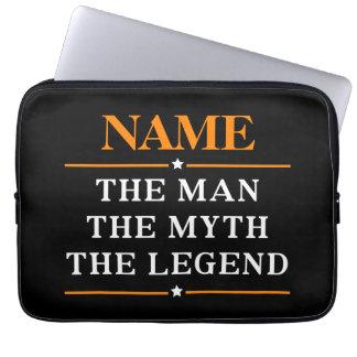 Personalisierter Name der Mann der Mythos die Laptopschutzhülle