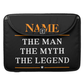 Personalisierter Name der Mann der Mythos die MacBook Pro Sleeve