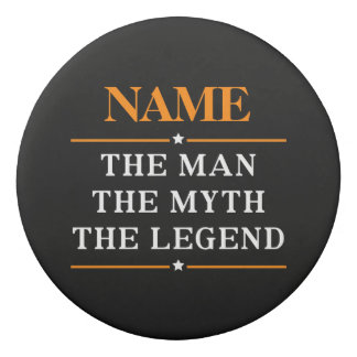 Personalisierter Name der Mann der Mythos die Radiergummi