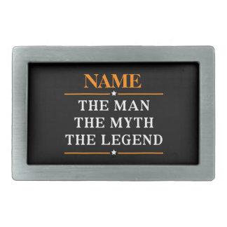 Personalisierter Name der Mann der Mythos die Rechteckige Gürtelschnalle