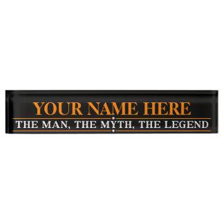 Personalisierter Name der Mann der Mythos die Schreibtischplakette