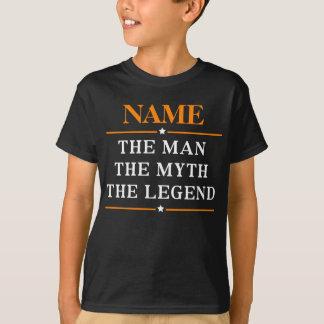Personalisierter Name der Mann der Mythos die T-Shirt
