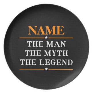 Personalisierter Name der Mann der Mythos die Teller
