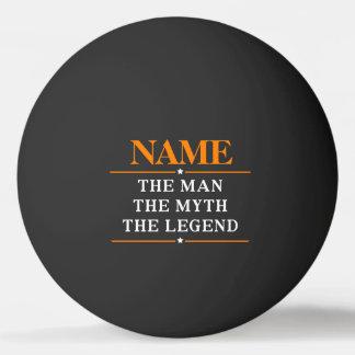 Personalisierter Name der Mann der Mythos die Tischtennis Ball