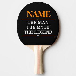 Personalisierter Name der Mann der Mythos die Tischtennis Schläger
