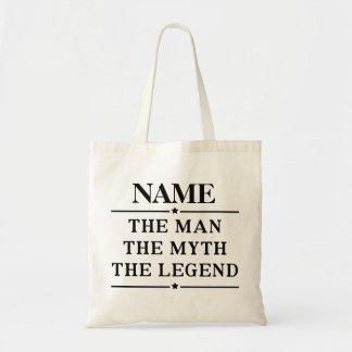 Personalisierter Name der Mann der Mythos die Tragetasche