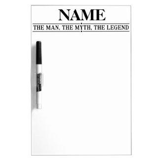 Personalisierter Name der Mann der Mythos die Trockenlöschtafel