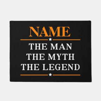 Personalisierter Name der Mann der Mythos die Türmatte