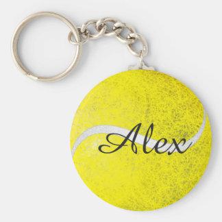 Personalisierter Name des Tennisballs Schlüsselanhänger