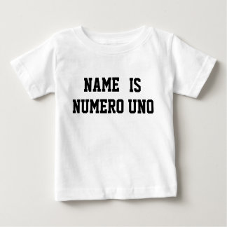 Personalisierter Name ist Numero UNO Baby T-shirt