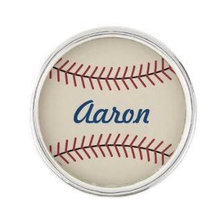 Personalisierter Name trägt Baseball-Revers-Button Anstecknadel