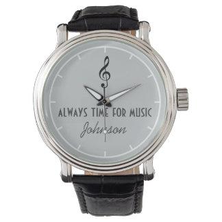 personalisierter Name u. musikalische Anmerkung Armbanduhr