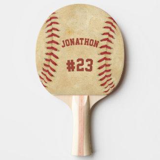 Personalisierter Namen-und Zahl-Baseball Tischtennis Schläger