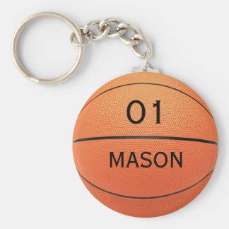 Personalisierter Namen-und Zahl-Basketball-Sport Schlüsselanhänger