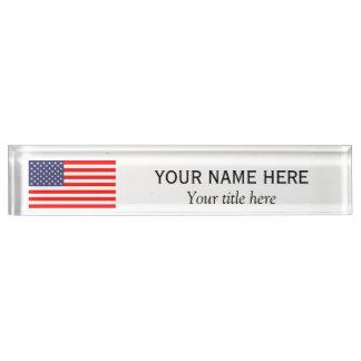 Personalisierter Namenstitel patriotische