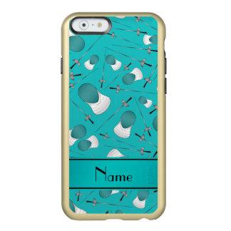 Personalisierter Namenstürkis, der Muster einzäunt Incipio Feather® Shine iPhone 6 Hülle