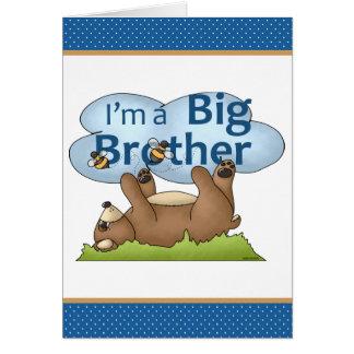 Personalisierter niedlicher Bär bin ich ein großer Karte