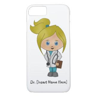Personalisierter niedlicher blonder Mädchen-Doktor iPhone 8/7 Hülle