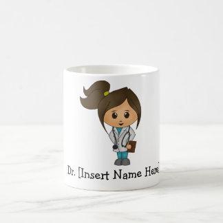 Personalisierter niedlicher Doktor Female Kaffeetasse