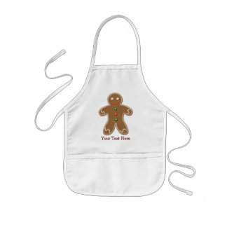 Personalisierter niedlicher Feiertags-Lebkuchen-Ma Kinderschürze