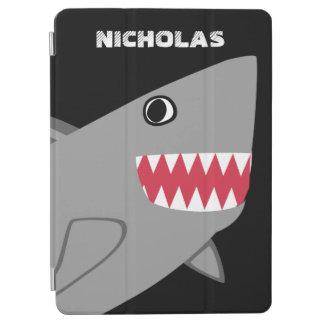 Personalisierter niedlicher grauer Haifisch iPad Pro Hülle