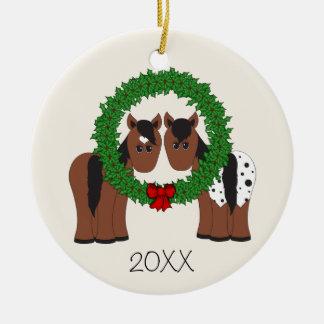 Personalisierter niedlicher keramik ornament