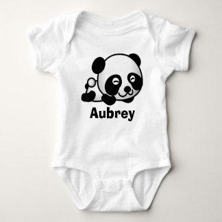 Personalisierter niedlicher kleiner Babypandabär Baby Strampler