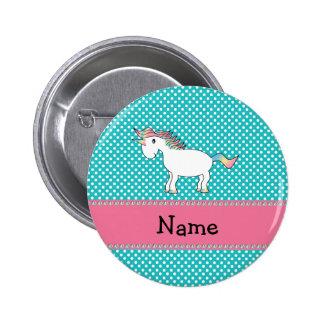 Personalisierter niedlicher Namensunicorn Runder Button 5,7 Cm