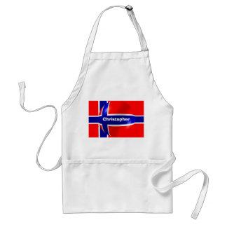 Personalisierter norwegischer Flaggen-Entwurf Schürze