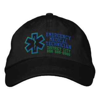 Personalisierter Notmedizinischer Techniker Bestickte Kappe